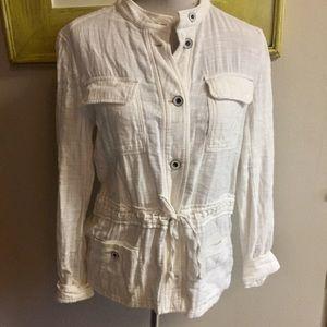 hei hei Jackets & Coats - Hei hei Cotton Jacket white drawstring Waist small